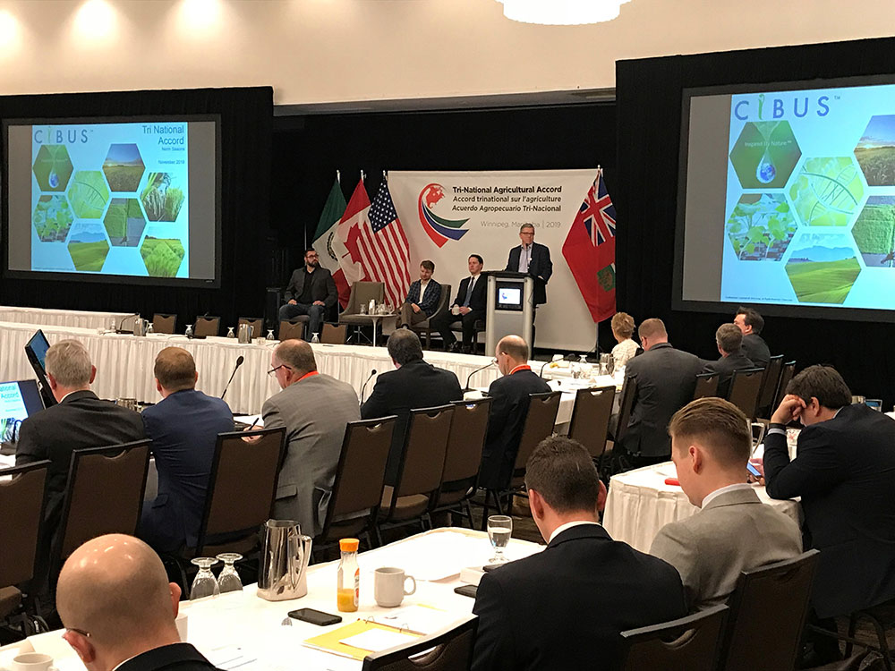 Norm Sissons speaks at 28th Annual Tri-National Agricultural Accord